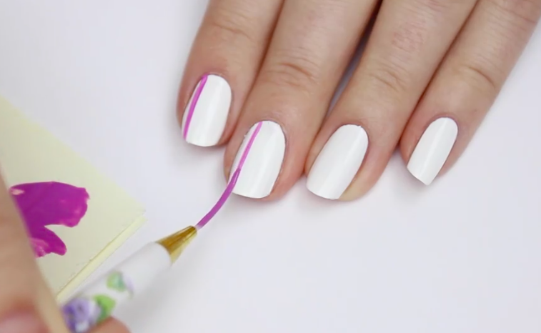 Striped nails are a great technique for beginners and seasoned nail artists.