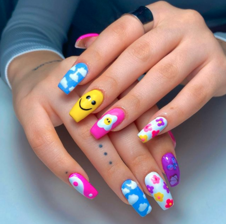 Image via  Instagram    Every nail gets a special treatment!