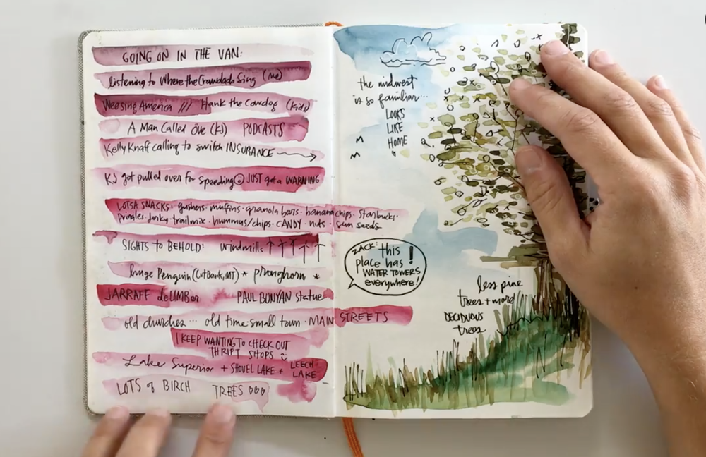 Skillshare instructor Nikki Jouppe shows one way you can do an art journal.