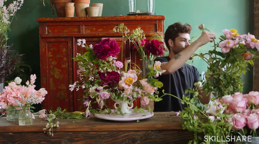 Find inspiration by creating a floral arrangement to brighten your space.