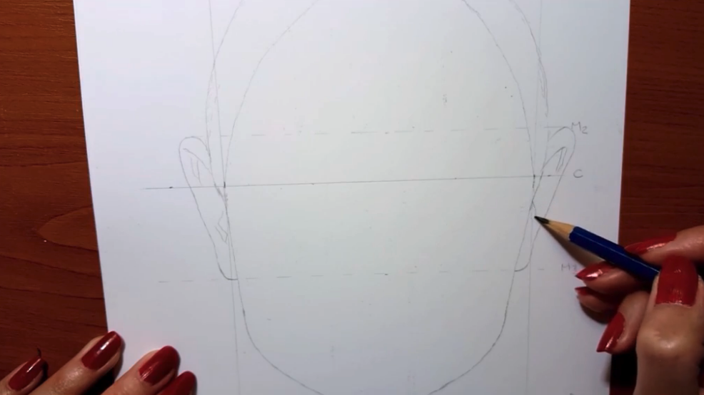 Skillshare teacher Jasmina Susak shows us how to add in the first features on the face.