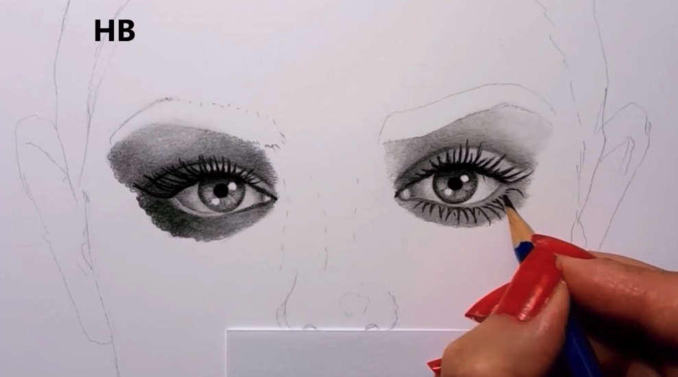 Shading around the eyes can be time-consuming, but enjoy the process of seeing your art come to life!