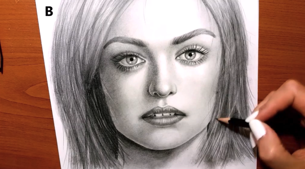 Your realistic portrait is complete!