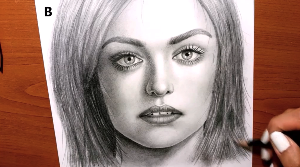 Drawing a realistic face is simply basic lines and shading techniques.
