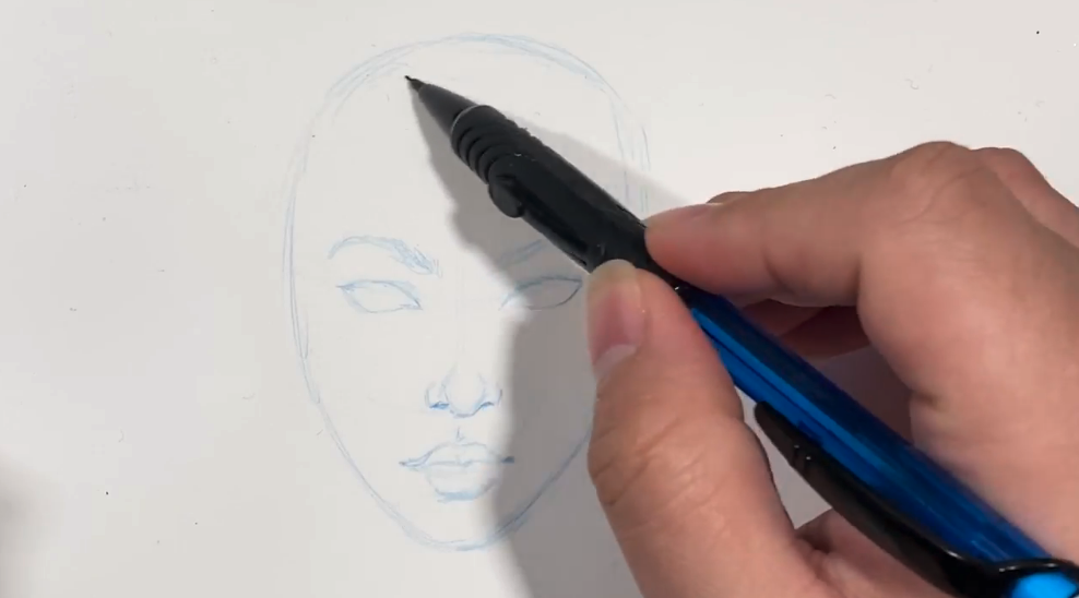 Adding in light sketches as you go helps you to see your progress but gives you room for errors or changes.