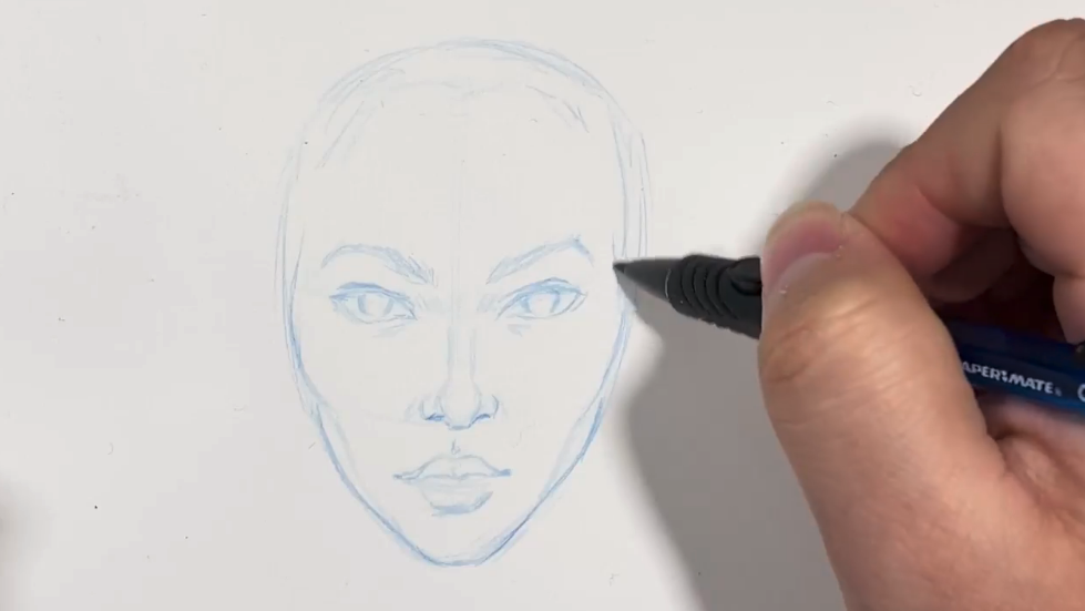 Light pencil strokes are the best way to keep your face drawings simple.