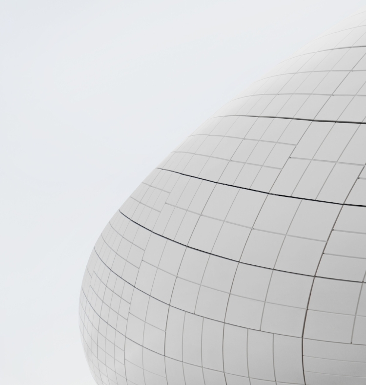 In Contour Line Drawing, lines are used to define edges, much like this building's lines help define its shape in the real world ( image source )