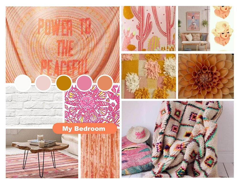 Steph Pearcey created this mood board in Adobe Illustrator as part of  Lindsey Slutz's class .