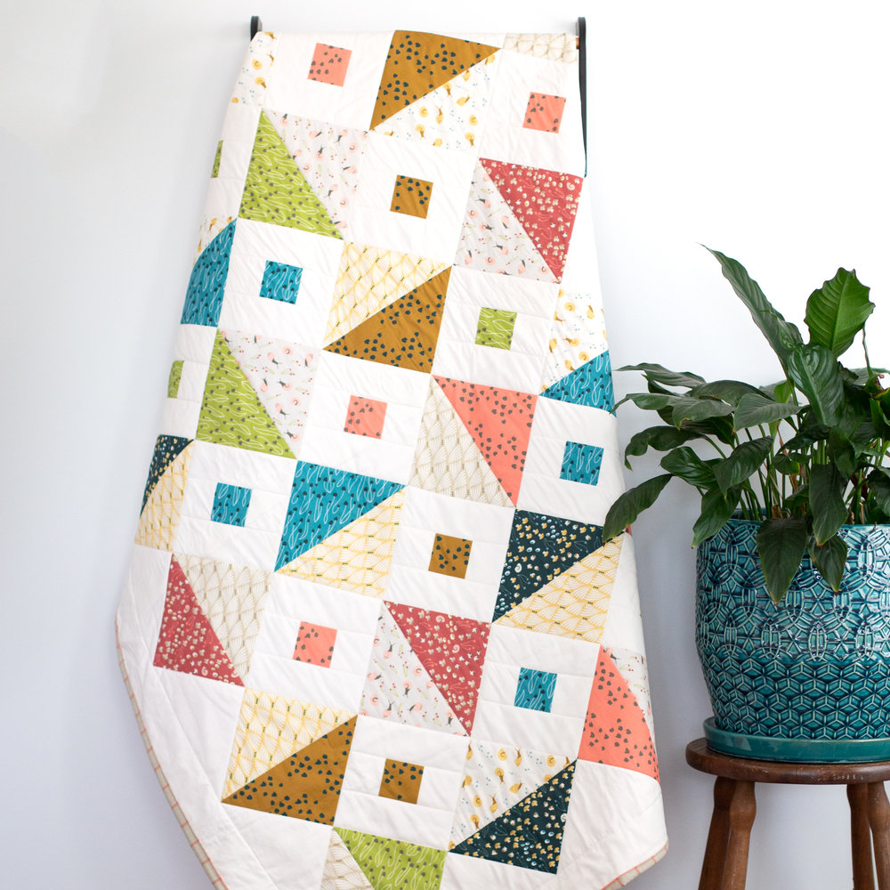 Cloud 9 Fabric Quilt, surface pattern design by Esther Nariyoshi (image courtesy of the artist)