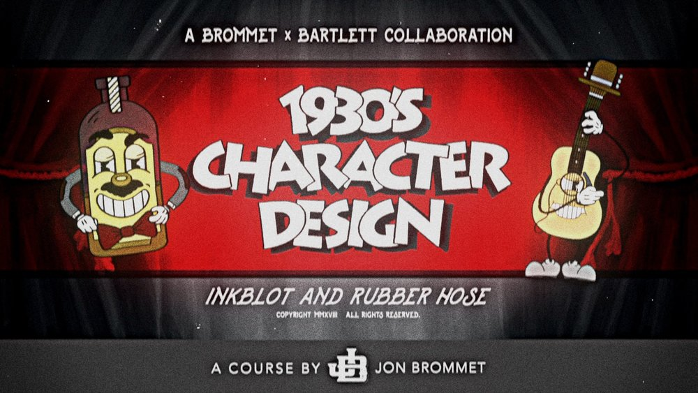 GRAPHIC DESIGN:  Students turn an inanimate object into an adorable (or terrifying) vintage character in  1930's Character Design: Illustrate Iconic Characters .