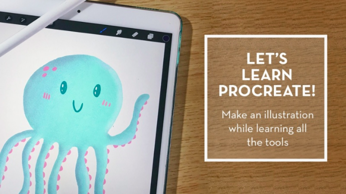 Create illustrations in Procreate with  Patty .