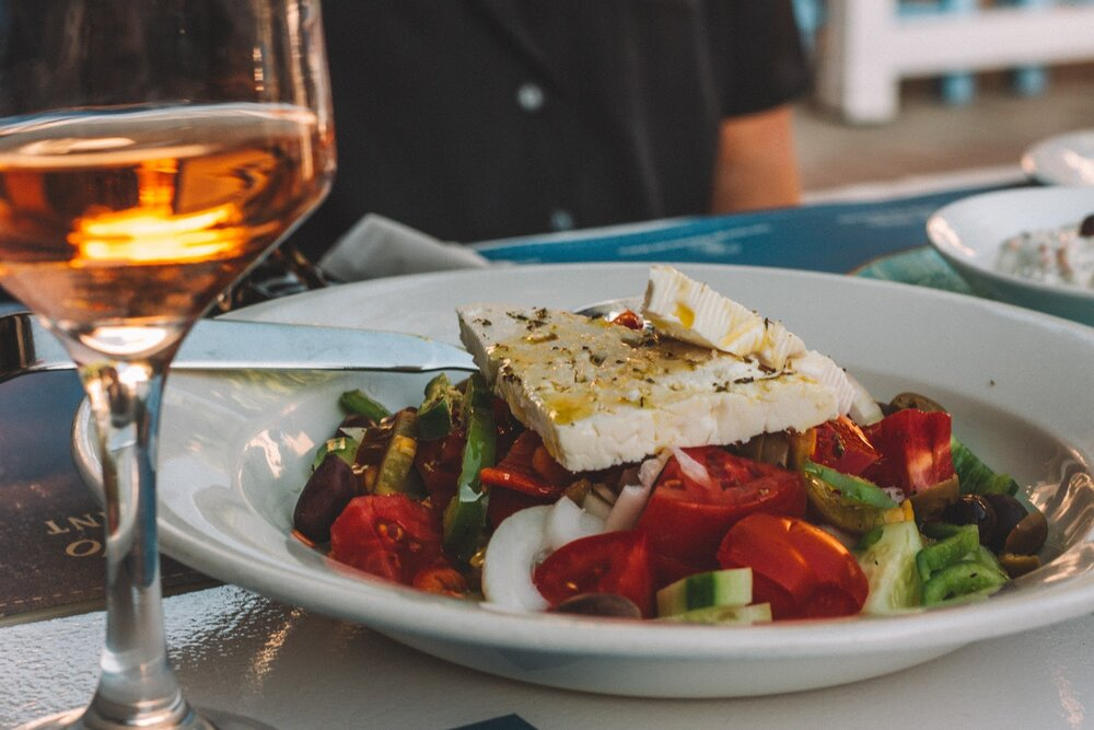 Greek salad is a filling, healthy meal you can prepare ahead of time.