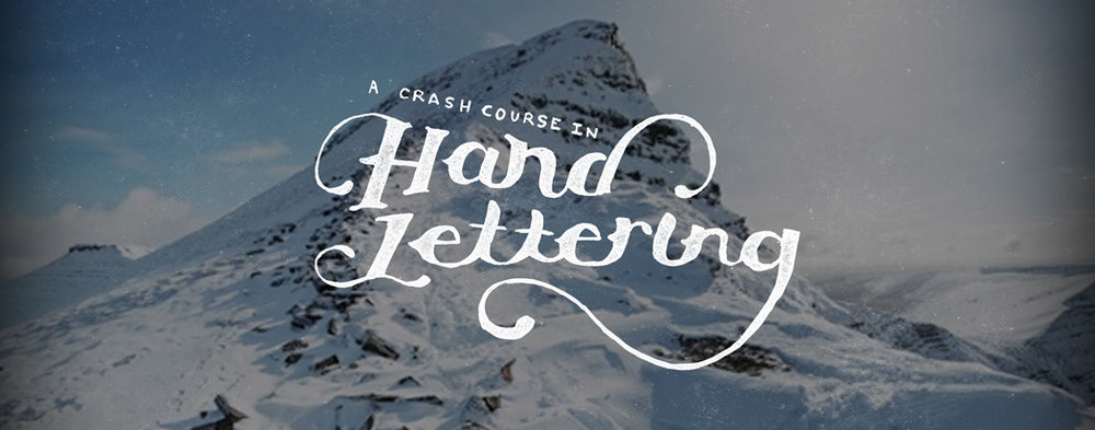 This is the title image from Timb Design's hand lettering crash course.