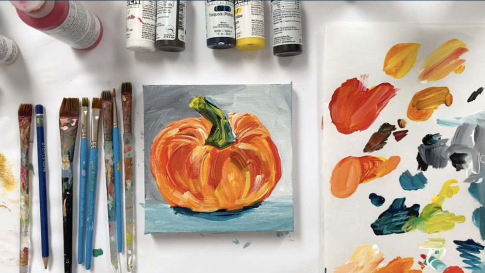 This pumpkin painting project is great for fall, or for any time of the year!