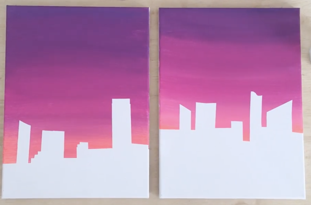 Ombre skies allow you to practice blending.