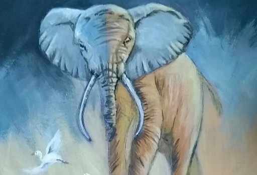 Animals and acrylic paint go hand in hand!