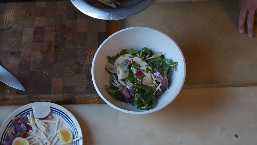 A composed salad is the perfect base for a hearty homemade dressing.