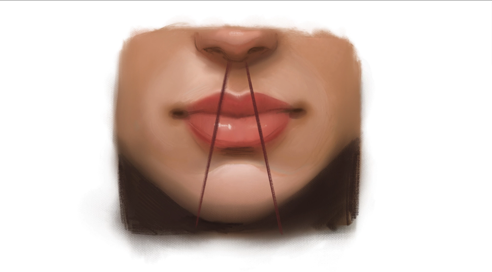 There are some simple tricks for positioning the mouth in your portrait drawings.