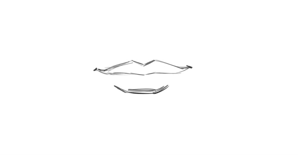 Finally, add shading at the bottom lip for your finished smile drawing.