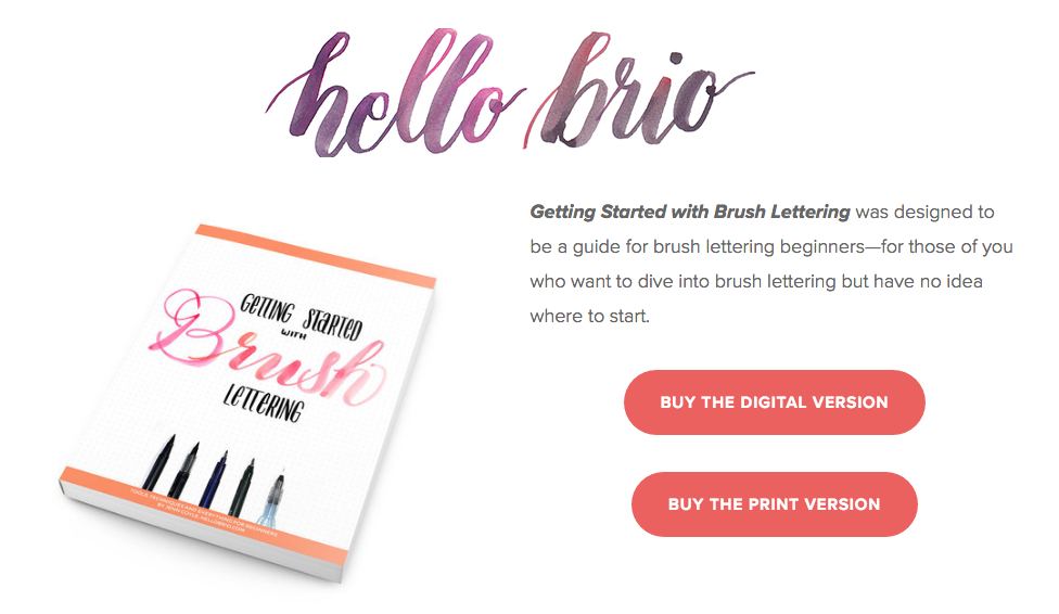 How Jenn Coyle uses her blog Hello Brio to market her newly published e-book