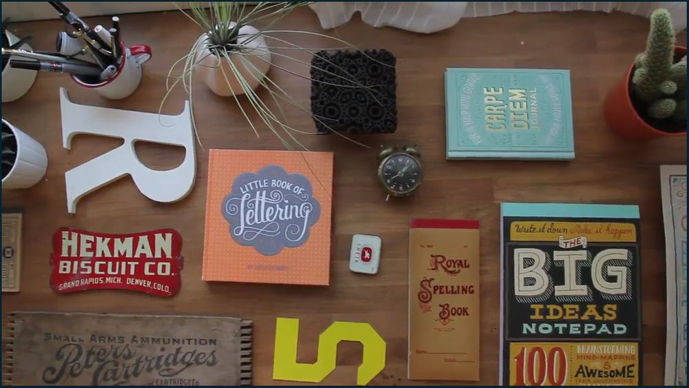Inspiration for hand lettering projects can be found everywhere.
