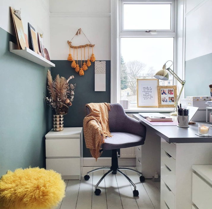 Source: Instagram   @gingerhearts    Choose a chair that's comfortable enough to sit in all day but not so cushioned that it makes you want to fall asleep.