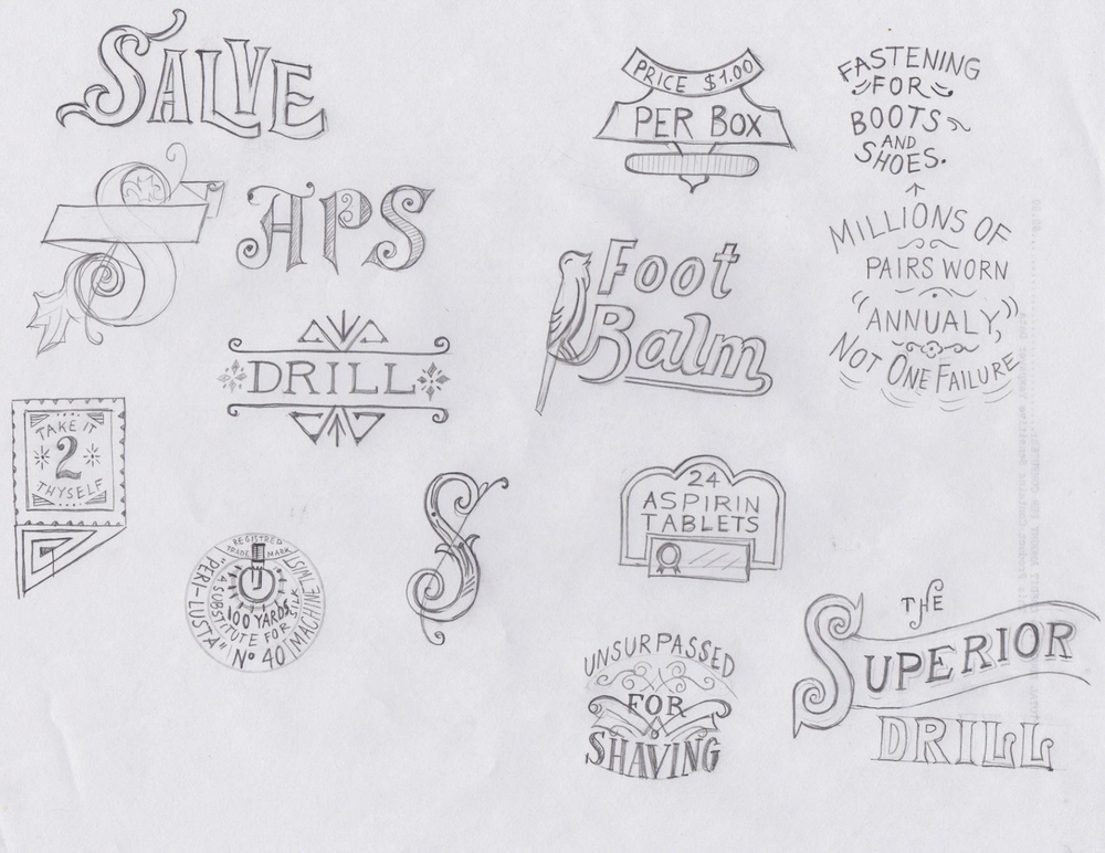 Student work by Maria Mordvintseva for  Vintage Hand-Lettering: Styling Phrases for Timeless Appeal
