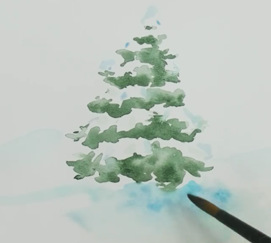 Add a light blue pigment to give the effect of snow.