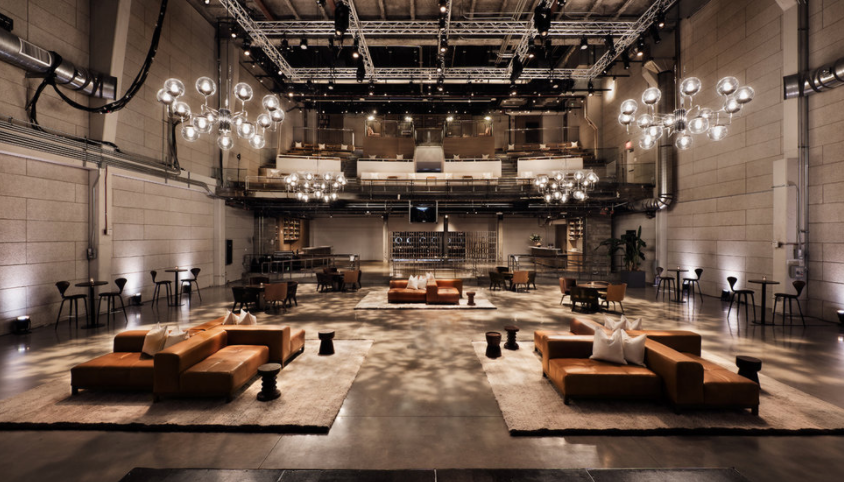 The industrial workspace of NeueHouse Hollywood.
