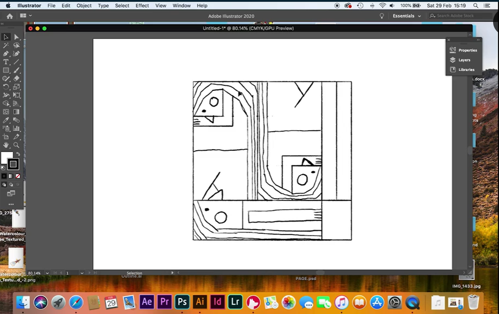 After creating your shape in Photoshop, import it to Illustrator.