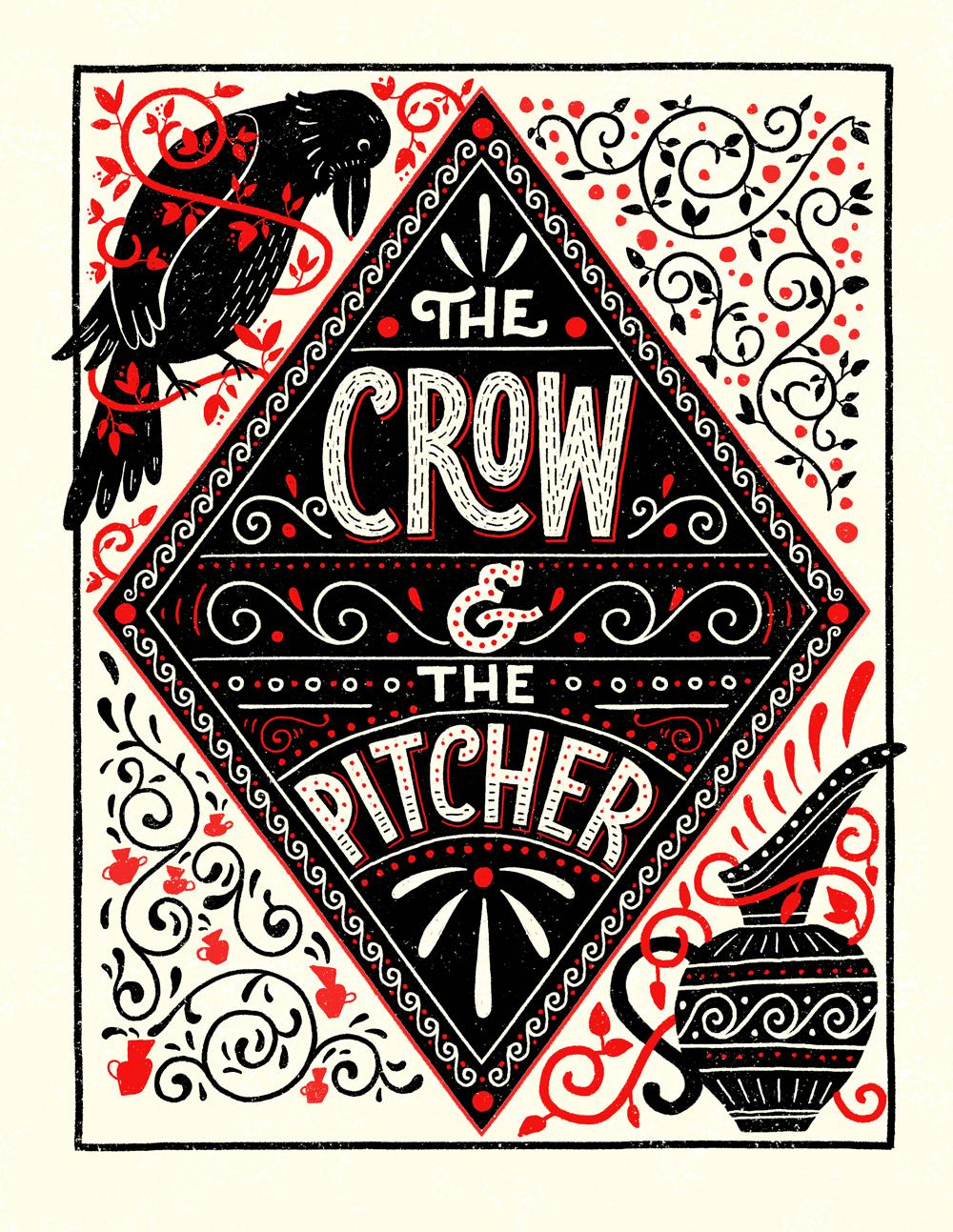 This hand lettering incorporates illustration and ornamentation to create a more varied style.