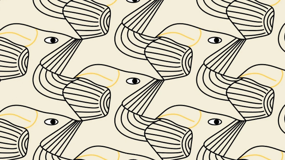Student work by Andrea Mühlbauer for  How to Make Super Easy Tessellating Patterns in Illustrator + Free Templates
