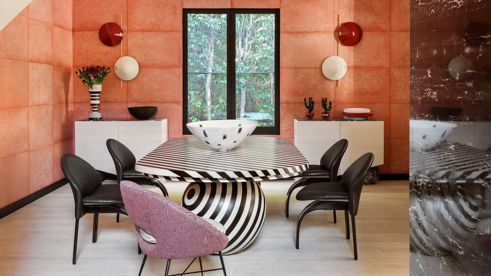 Did someone order a high-glam dining room?