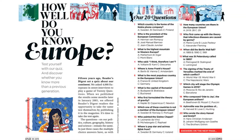 An example of illustrator Ed J Brown's unique style, featured in Reader's Digest.