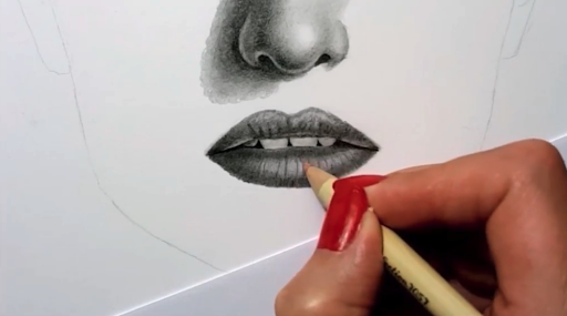 Keep an eraser on hand as you draw to lighten shading and erase mistakes.