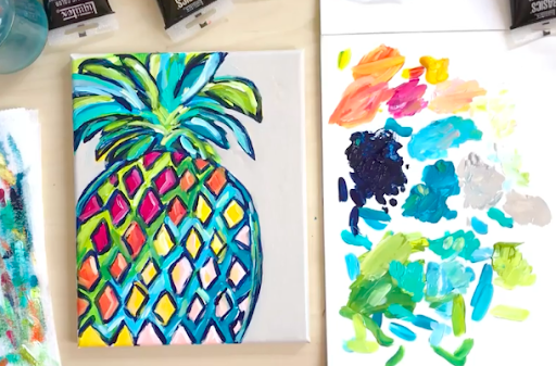 How about a pineapple for your canvas?