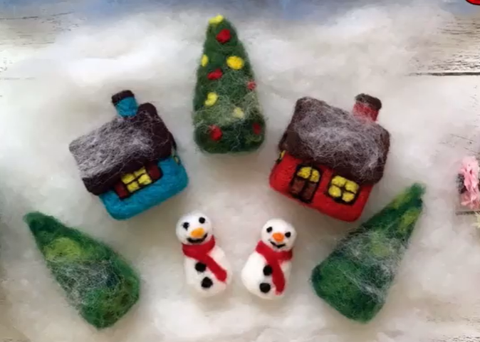 christmas felted decorations