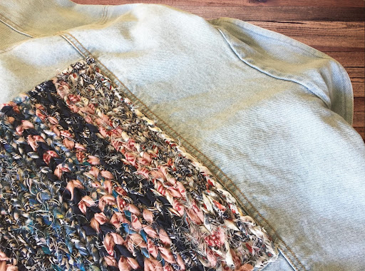 jeans jacket with texture