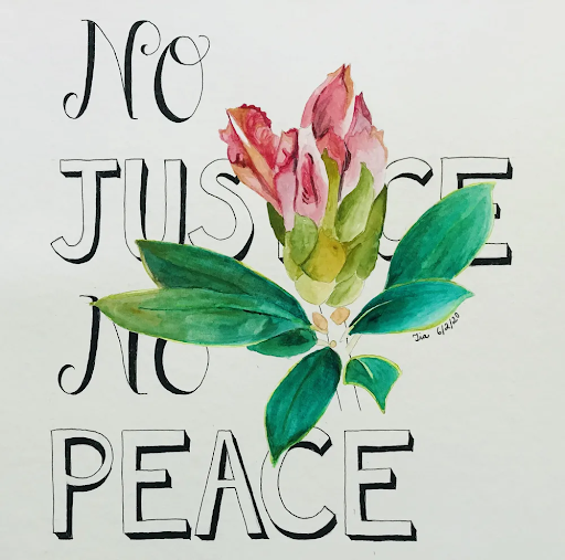 words with watercolor flower